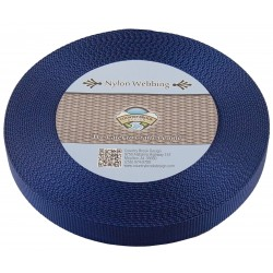 1 Inch Navy Blue Heavy Nylon Webbing