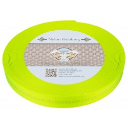 1 Inch Hot Yellow Climbing Spec Tubular Nylon Webbing