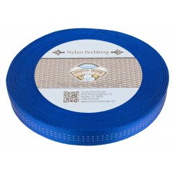 1 Inch Royal Blue Climbing Spec Tubular Nylon Webbing