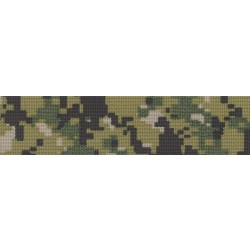 3 Inch Digital Camo Green Polyester Webbing Closeout