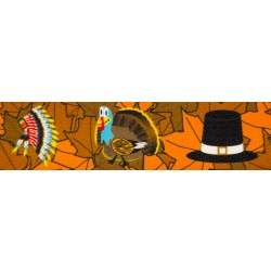 1 Inch Thanksgiving Tradition Polyester Webbing