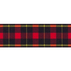 1 Inch Black and Red Plaid Photo Quality Polyester