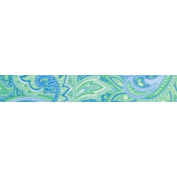 3/4 Inch Green Paisley Photo Quality Polyester