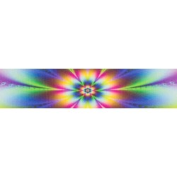 3/4 Inch Tie Dye Flowers Photo Quality Polyester