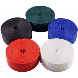 1 1/2 Inch 5 Yards of 5 Colors Heavy Polypro Webbing