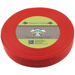 1 1/2 Inch Red Heavy Polypro Webbing