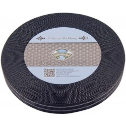 Country Brook Design® 1 Inch Reflective Black Polyester Webbing
