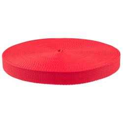 1 Inch Red Super Heavy Polypro Webbing Closeout