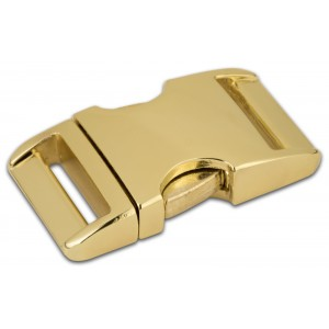 1 Inch Brass Plated Aluminum Side Release Buckles