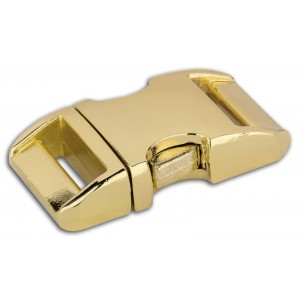 3/4 Inch Brass Plated Aluminum Side Release Buckles