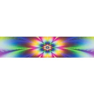 Tie Dye Flowers Grosgrain Ribbon