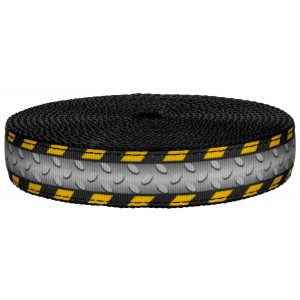 1 Inch Industrial Ramp on Black Nylon Webbing