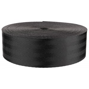 2 Inch Black Commercial Seat-belt Nylon (Polyester) Webbing Closeout