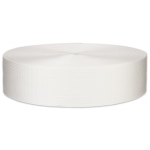 1 1/2 Inch Berry Compliant White Lite Weight Nylon Webbing Closeout