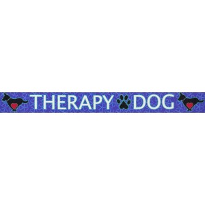 1 Inch Blue Therapy Dog Polyester Webbing