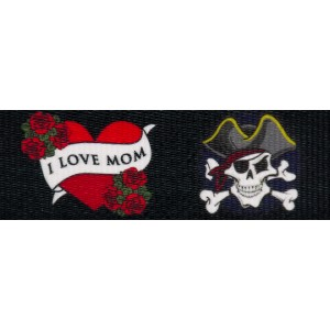 1 Inch I Love Mom Polyester Webbing