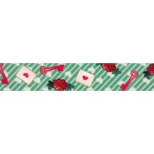 1 Inch Love Letters Polyester Webbing
