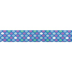 1 Inch Mermaid Scales Polyester Webbing
