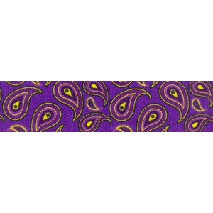 1 Inch Purple Paisley Photo Quality Polyester