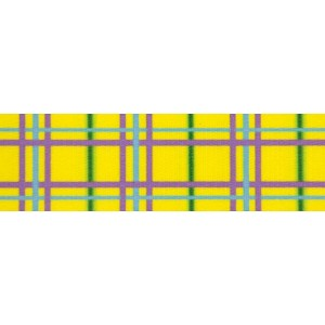 1 Inch Spring Yellow Plaid Photo Quality Polyester