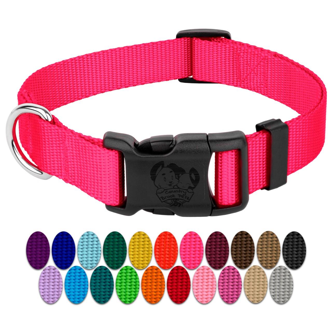 Medium Fade to Pink Dog Collar
