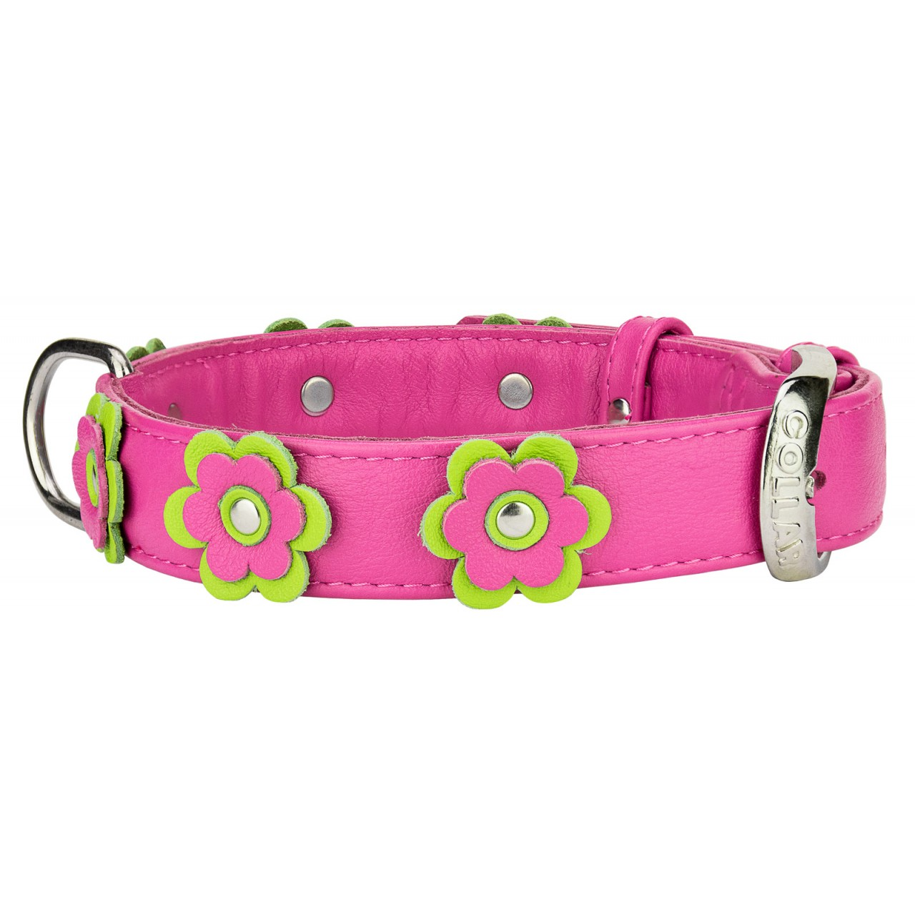 Buy collar glamour with flowers leather collar online dhlflorist Choice Image