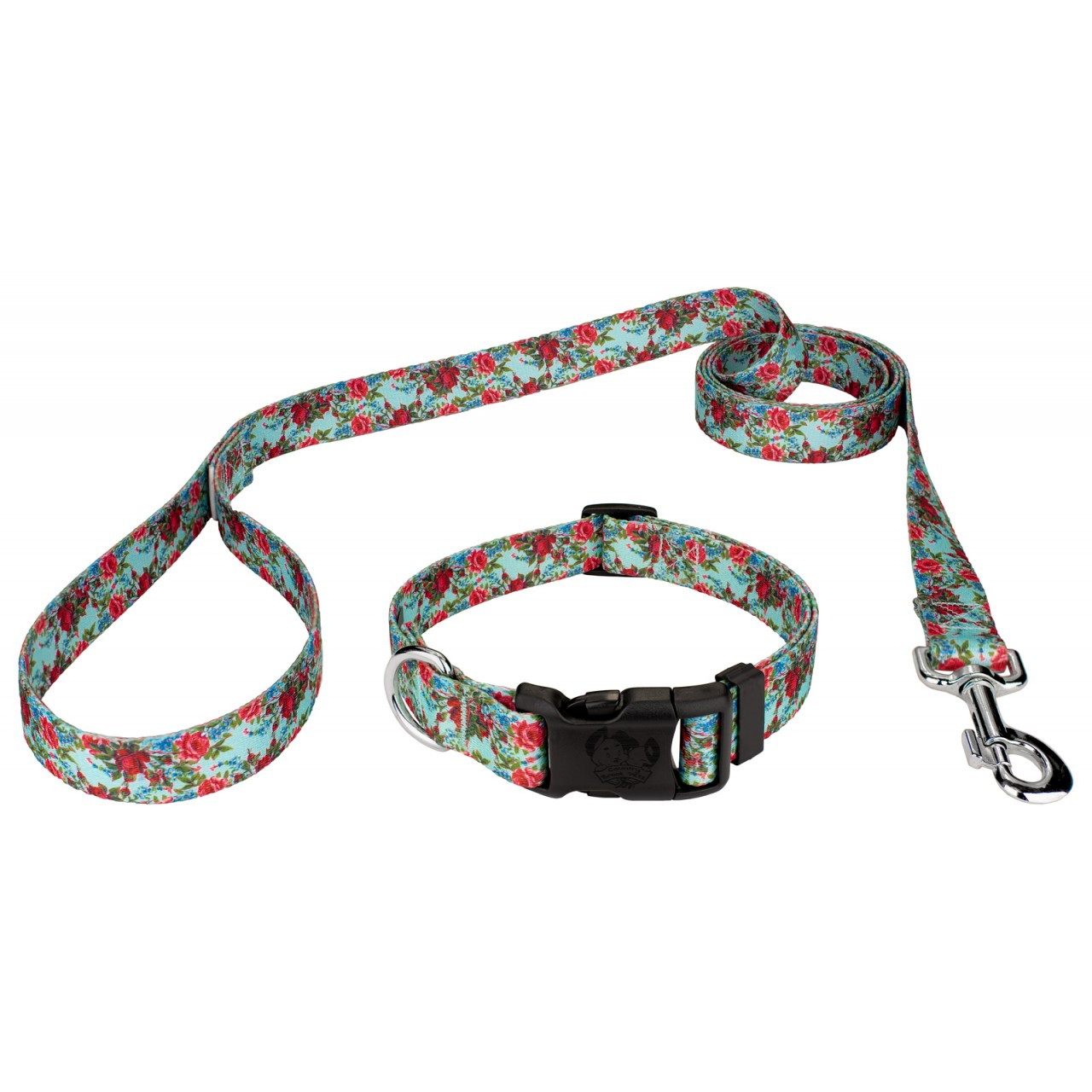 Deluxe Vintage Roses Dog Collar & Leash