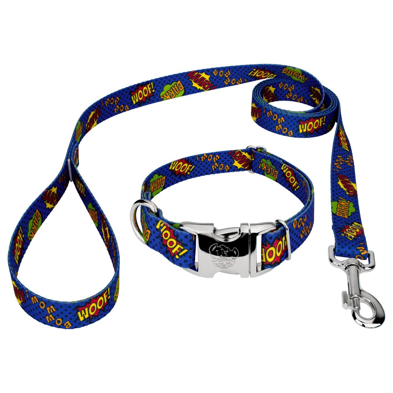 Blue Comic Dog Collar