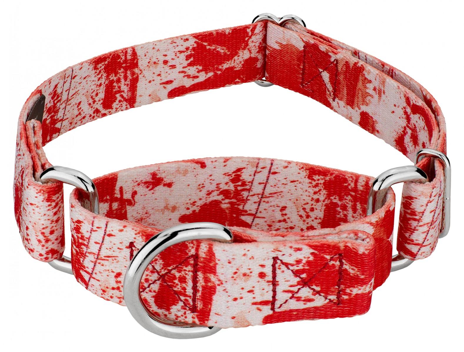 Buy Blood Spatter Martingale Dog Collar Online