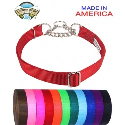 10 - Half Check Nylon Dog Collars (Various Sizes & Colors Available)