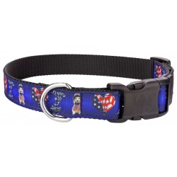 Deluxe 4th Of July Ribbon Dog Collar Limited Edition