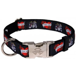 Premium I Love Mom Ribbon Dog Collar