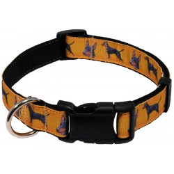 Deluxe Manchester Terrier Ribbon Dog Collar