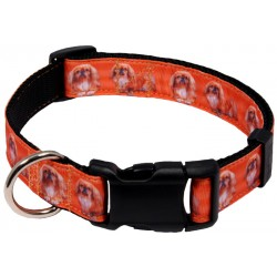 Deluxe Pekingese Ribbon Dog Collar