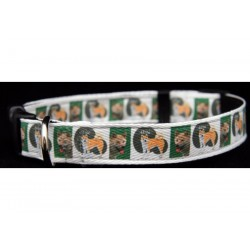 Deluxe Akita Ribbon Dog Collar