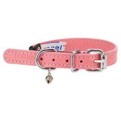 Angel™ Alpine Bubblegum Pink Leather Cat Collar