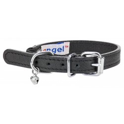 Angel™ Alpine Midnight Black Leather Cat Collar