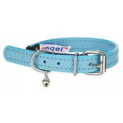 Angel™ Alpine Baby Blue Leather Cat Collar
