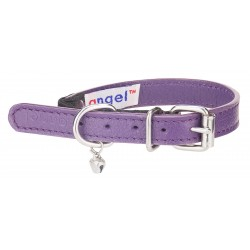 Angel™ Alpine Orchard Purple Leather Cat Collar