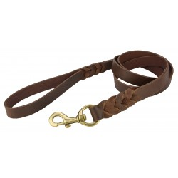 Angel™ Braided Brown Leather Leash