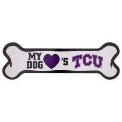 My Dog Loves TCU Bone Magnet
