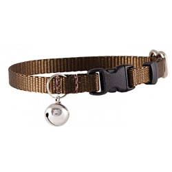 Brown Nylon Cat Collar
