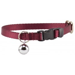 Burgundy Nylon Cat Collar