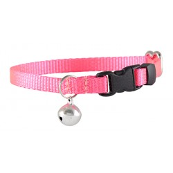 Hot Pink Nylon Cat Collar