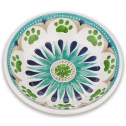 TarHong Alfresco Medallion Saucer Melamine Pet Bowl