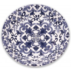 TarHong Indigo Canyon Clay Saucer Melamine Pet Bowl