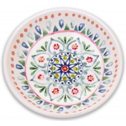 TarHong Multi Boho Medallion Saucer Melamine Pet Bowl