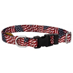 Deluxe Patriotic Tribute Featherweight Dog Collar - Extra Small