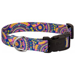 Deluxe Blue Boho Mandala Dog Collar
