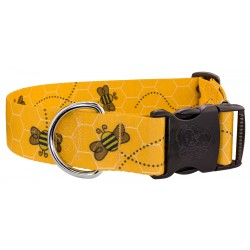 1 1/2 Inch Deluxe Busy Bee Dog Collar